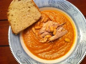 Thai Butternut Squash Soup w/ Chicken