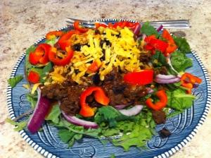 Taco Salad with Chipotle Vinaigrette